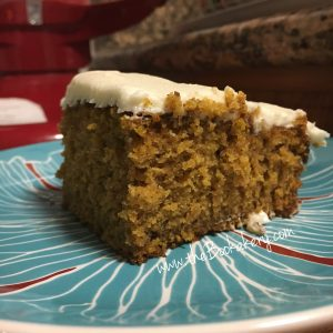 Pumpkin Cake and Cream Cheese Frosting