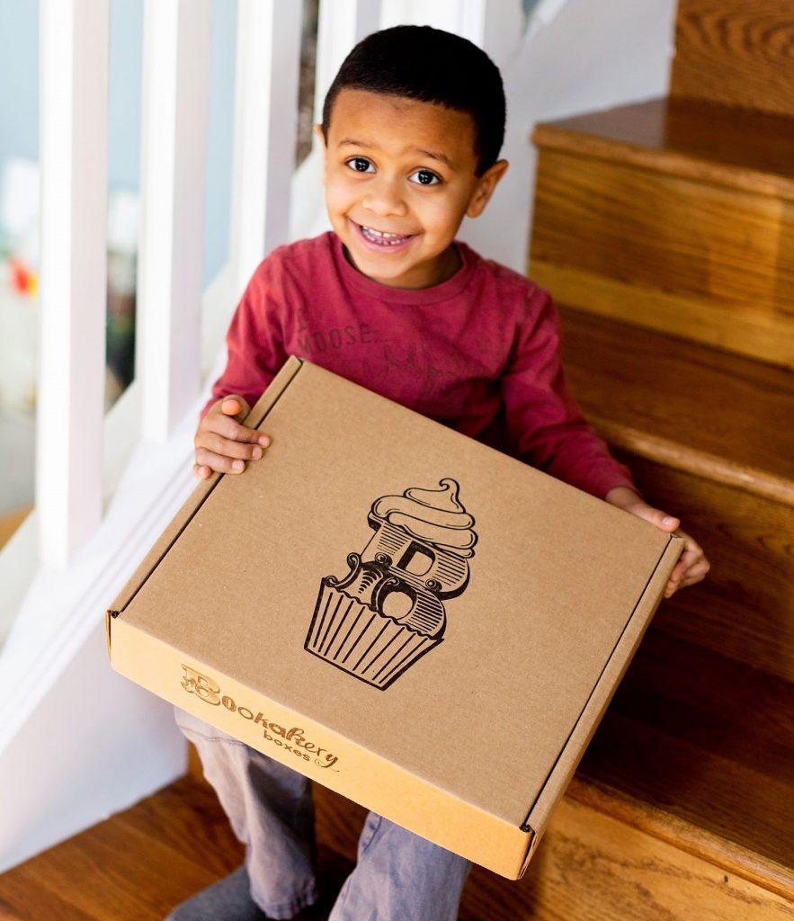 Happy mail. Kids subscription box. Bookakery Box. Book and baking subscription box.