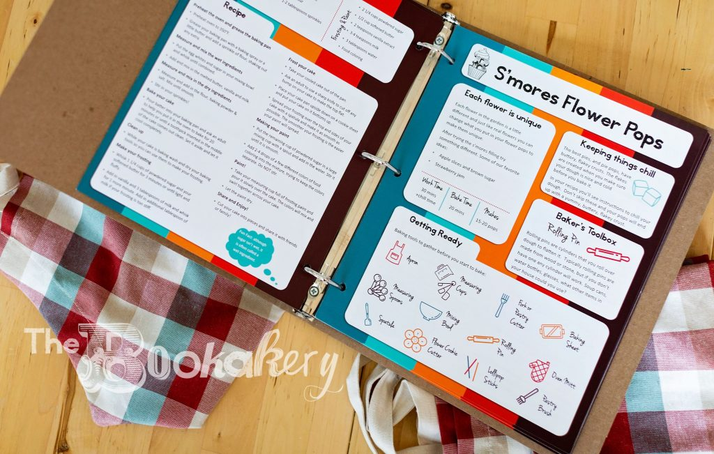 Recipes for kids. Bookakery recipe card. Fun baking recipes for kids.