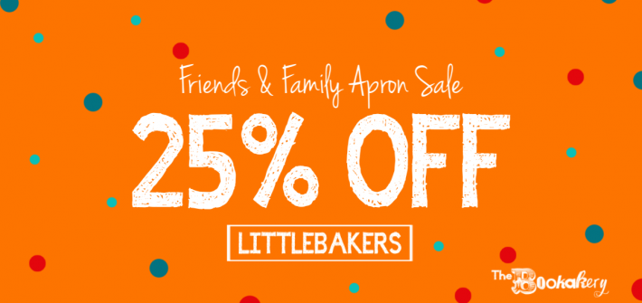 Bookakery Friends & Family Apron Sale!